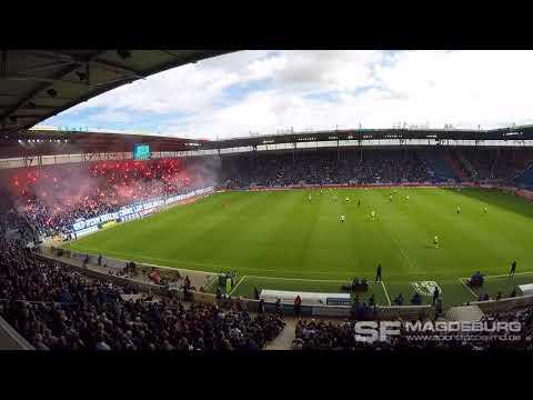 Video: Choreo Block U - 1. FC Magdeburg gegen FC Hansa Rostock am 09.09.2017