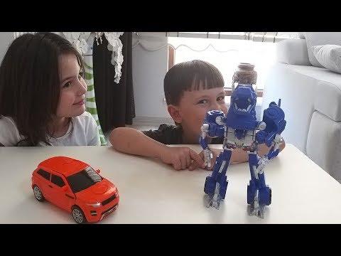 Transformers robotlar. Robottan arabaya, ejderhaya dönüşen oyuncaklar | Oyuncak videoları
