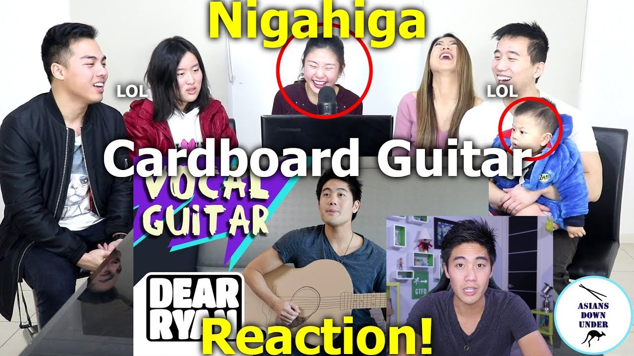 NigaHiga Cardboard Guitar!? (Dear Ryan) | Reaction – Australian Asians