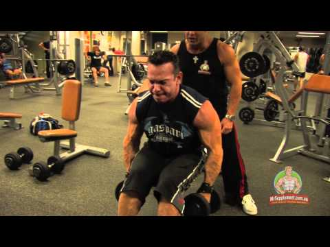 lateral raises - http://www.mrsupplement.com.au - Rich Gaspari's Workout Tips - Delt Exercise 2 - Side Side Dumbbell Lateral Raise: Former Arnold Classic Champion & 3x Mr Oly...