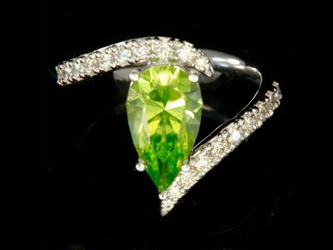 Peridot and Fine Diamond Ring by Christopher Michael