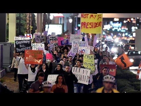 ΗΠΑ: Τέταρτη νύχτα διαδηλώσεων κατά της εκλογής Τραμπ