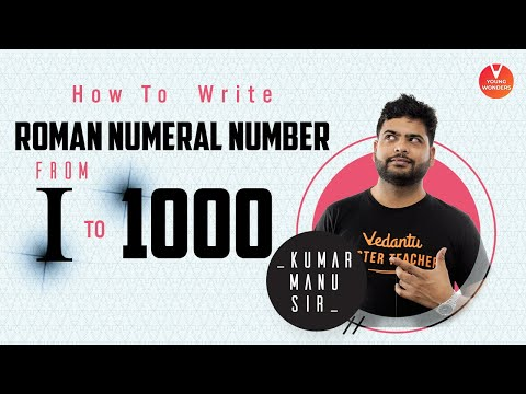 How to write Roman Numeral Number from 1 to 1000? | Roman Numbers 1 to 1000 | Roman Numerals 1 1000