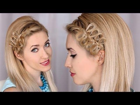 Bow braid headband tutorial :: Party hairstyle for medium/long hair (видео)