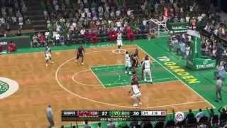 NBA 2014 - Toronto Raptors Vs Boston Celtics - 3rd Qrt - NBA LIVE 15 PS4 - HD
