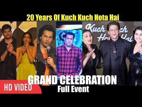 UNCUT - 20 Years Of Kuch Kuch Hota Hai GRAND Celebration | Shahrukh Khan, Salman Khan, Kajol, Rani