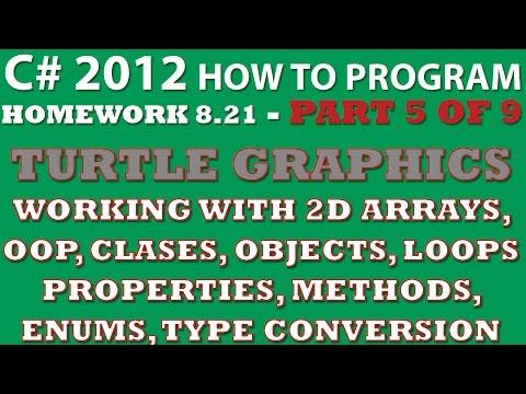C# Programming Challenge 8.21: Turtle Graphics Part 5/9 (C# Methods, Passing Enums C# methods)