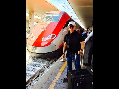 Frecciarossa Italy's High Speed Train. Rome to Florence HD Video 2017