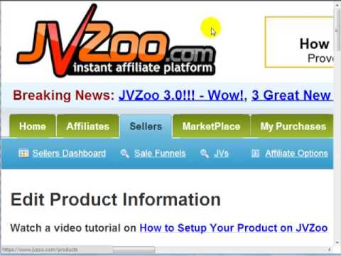 "Discover How You Can Sell Your Product on the JVZoo Instant Affiliate System  ""Affiliate Program"""