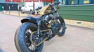 Harley Sportster 48 200 Wide Tyre Conversion   Finished