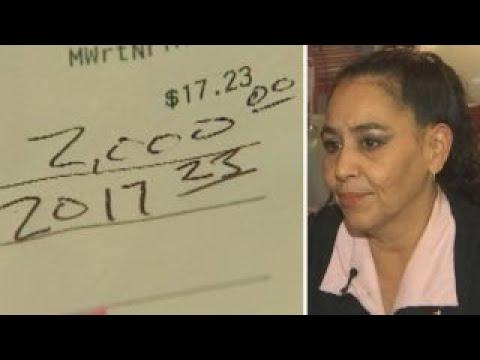 Diner leaves $2,000 tip
