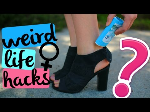 WEIRD Life Hacks for Girls: TESTED