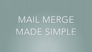 Mail Merge Made Simple