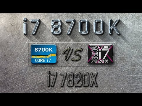 i7 8700K vs i7 7820X Benchmarks | Gaming Tests Review & Comparison