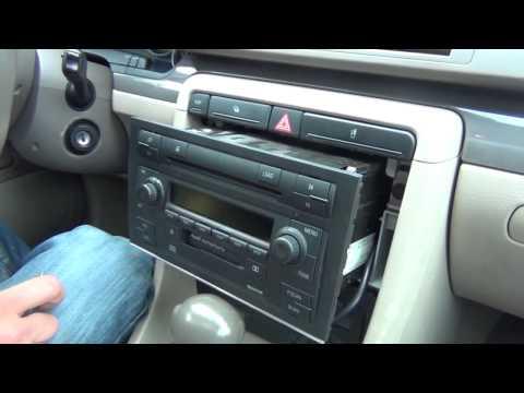 Видео замена магнитолы ауди а4 фото