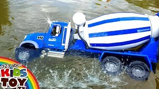 Video Bad boys Toys cars dive in water  MANY LARGE TOY CARS  For fun) BRUDER Cars for children MP3, 3GP, MP4, WEBM, AVI, FLV Agustus 2017