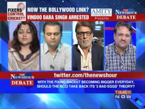 Bollywood - In a debate moderated by TIMES NOW's Editor-in-Chief Arnab Goswami, panelists -- Suhel Seth, Managing Partner, Counselage; Charu Sharma, Sports Commentator; ...