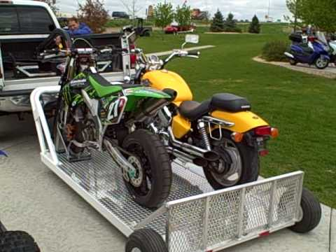 Unloading 2 Motorcycles with your Elevation Trailer