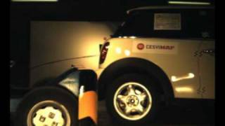 Crash test trasero Mini One en Cesvimap