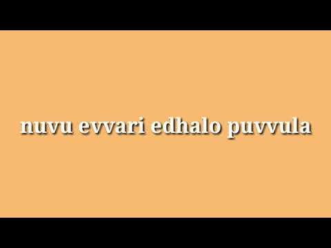 Nuvu evvari edhalo puvvula (видео)