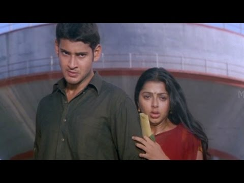 Mahesh Babu Saves Bhumika From Prakash Raj Action Scene || Okkadu Movie