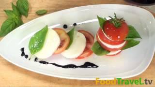 สลัดมะเขือเทศกับชีส Caprese Salad
