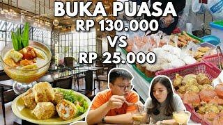 Download Video BUKA PUASA RP 25.000 VS RP 130.000 !! | Mahal Vs Murah MP3 3GP MP4