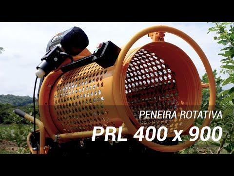 Peneira rotativa PRL 400 x 900 para classificação de materiais