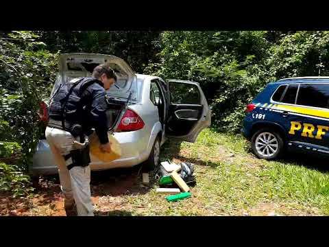 Droga apreendida pela polícia rodoviária