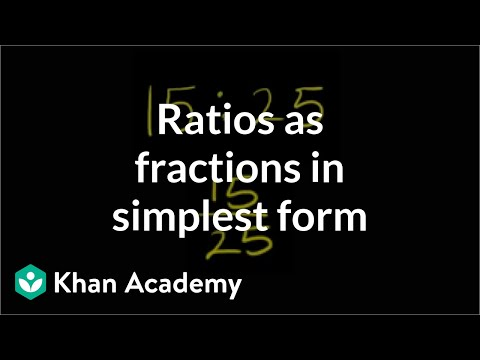 Ratios as fractions in simplest form (video) | Khan Academy