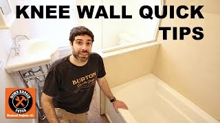 https://www.homerepairtutor.com/how-to-tile-a-shower-wall-knee-wall-tips/How do you tile a shower wall? Specifically a knee wall in a tub Shower Combo? Today we share quick tips on how to tile a shower wall, specifically the knee wall. Hopefully this video helps you with your project.Tip 1: Place plastic horseshoe shims on the tub and set tiles on the spacers. This creates a gap between the shower tile and the tub for expansion and contractions. Tip 2: Laser level all the tiles - unfortunately I forgot to mention this in the video but we use laser levels to set tile. This is much better than pencil marks which fade from thin-set mortar.Tip 3: Employ a tile leveling system for large format tiles. SeamClips were used in this video but we also like T-Lock by perfect level master. Tile leveling systems are meant to tune the tile, provide even grout joints, and stop tile lippage. Are these systems necessary - no they are not, but they come in handy.Tip 4: Cap the knee wall with marble and slope it 1/4 inch per foot so that water drains into the shower.Tip 5: Save money by using Schluter metal profiles instead of bull nose tile. Watch the video for the rest of the tipshttps://youtu.be/JWtLF2yaOng