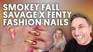 SMOKEY FALL SAVAGE X FENTY FASHION NAILS - VLOG 164