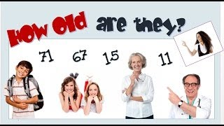 Verb To Be with Personal Pronouns, Age