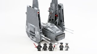 LEGO Star Wars Kylo Ren's Command Shuttle (Timelapse & Review) - Set 75104