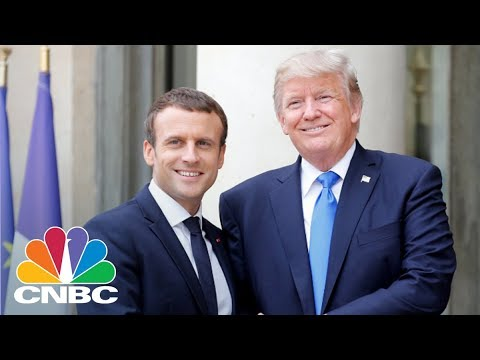 President Donald Trump & President Emmanuel Macron Hold Joint Presser - April 24, 2018 | CNBC