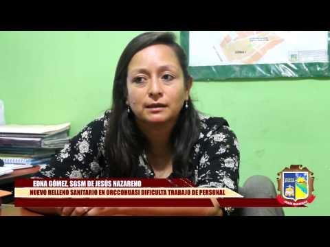 LA VÍA ACCIDENTADA AL NUEVO RELLENO SANITARIO EN ORCCOHUASI DIFICULTA TRABAJO DE PERSONAL