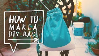 Drawstring Bag DIY | How to Make Sew a Backpack (Como Hacer un Bolso, Cartera o Bulto) - YouTube