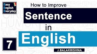 Video How to Improve Sentence making in English   Online English lessons   Spoken English for Students MP3, 3GP, MP4, WEBM, AVI, FLV April 2018