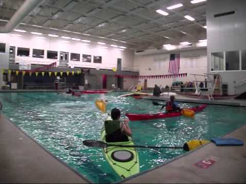Kayak Pool Session with Mountaineers at NK community Pool (Sat, 2 8 2014)