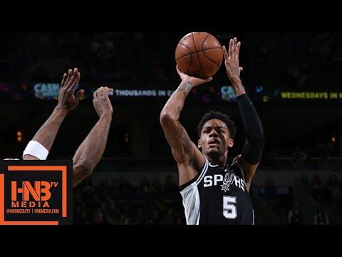 San Antonio Spurs vs Milwaukee Bucks Full Game Highlights / March 25 / 2017-18 NBA Season (видео)