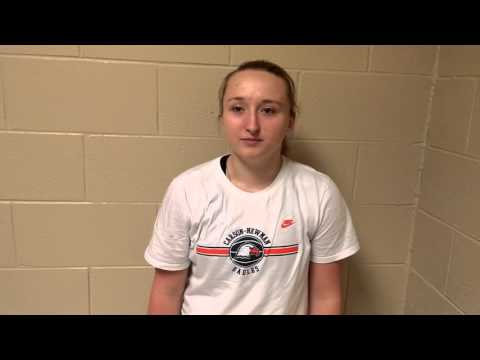 C-N Women's Basketball: Ashton Wykle Post-TC 1-6-15