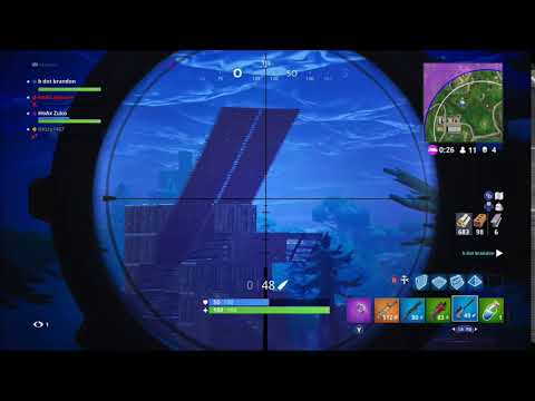 Fortnite Battle Royale - Longest snipe shot (281m) - personal record
