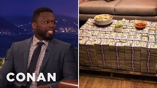 Video Why Is Curtis '50 Cent' Jackson Posing With Cash If He's Broke?  - CONAN on TBS MP3, 3GP, MP4, WEBM, AVI, FLV Januari 2018