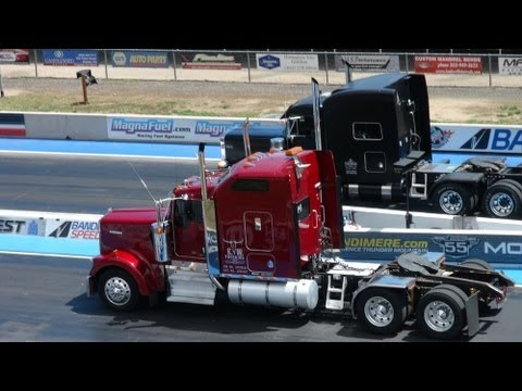 drag - http://www.TFLtruck.com ) When you think of a Big Rig Semi...you probably don't immediately think of drag racing...or do you? This weekend at Bandimere Spe...