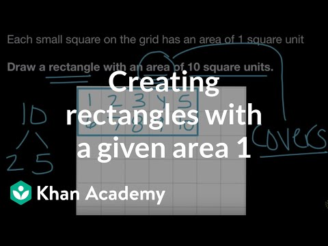 Creating rectangles with a given area 1 (video) | Khan Academy