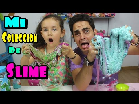 Videos caseros - Mi colección de slime COMPRADOS VS CASEROS