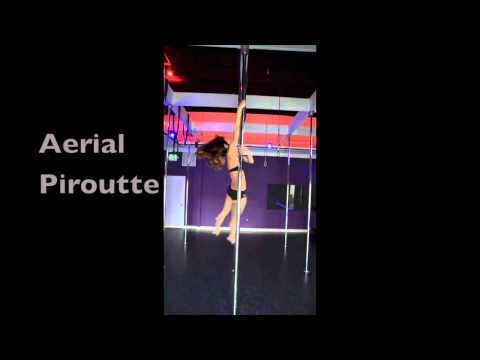 Pole Dance- Aerial Piroutte to Inverted Split