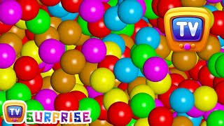 Magical Surprise Eggs Ball Pit Show For Kids  Learn Colours &...