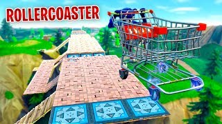 BUILDING OUR FIRST ROLLERCOASTER in Fortnite