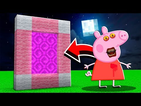 Portal to The PEPPA PIG Dimension in Minecraft at 3:00 AM..